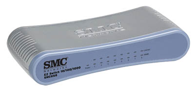 Switch SMC SMCFS5 8 Portas 10/100/1000 Mbps